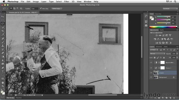 Fixing rips and creases: Photoshop Insider Training: Photo Restoration