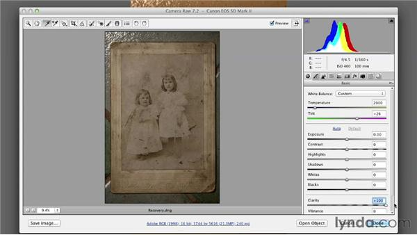 Recovering lost detail: Photoshop Insider Training: Photo Restoration