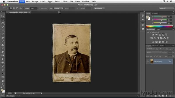 Creating and re-creating frames and borders: Photoshop Insider Training: Photo Restoration