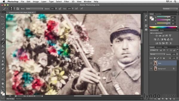 Colorizing a photo: Photoshop Insider Training: Photo Restoration