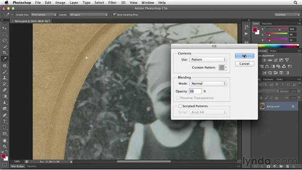 Degrading the image for realism: Photoshop Insider Training: Photo Restoration