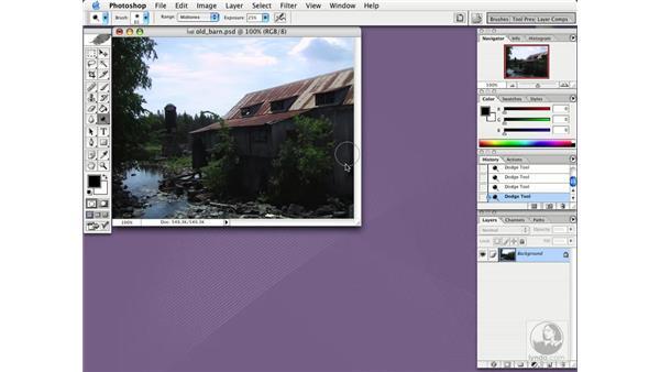 dodge tool: Photoshop CS Essential Training