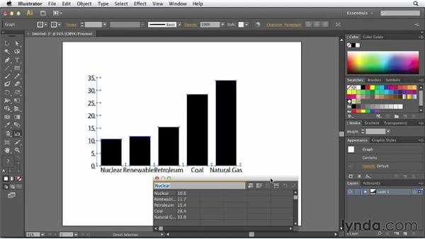 Formatting and using data with Illustrator: Creating Infographics with Illustrator