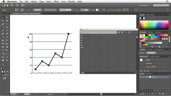 Defining the value scale for a chart: Creating Infographics with Illustrator