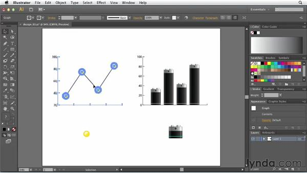 Applying a chart design to a marker: Creating Infographics with Illustrator
