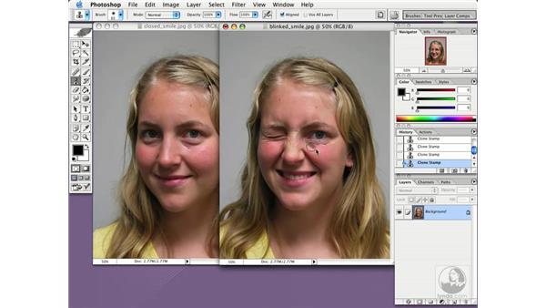 clone between images: Photoshop CS Essential Training