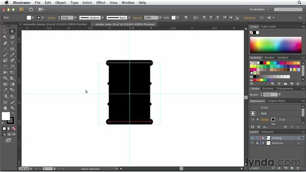 Creating simple icons for power sources: Creating Infographics with Illustrator