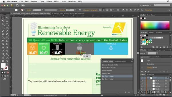 Finalizing the total energy chart: Creating Infographics with Illustrator (2013)