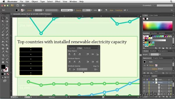 Adding a table using threaded text: Creating Infographics with Illustrator