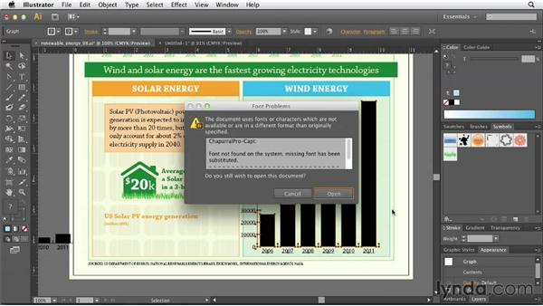 Adding a sliding column chart for wind power: Creating Infographics with Illustrator
