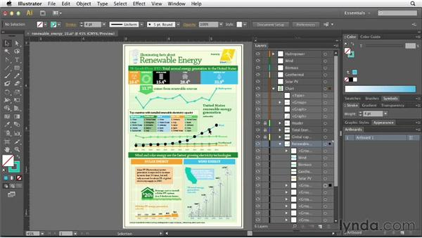 Creating a layered PDF infographic for distribution