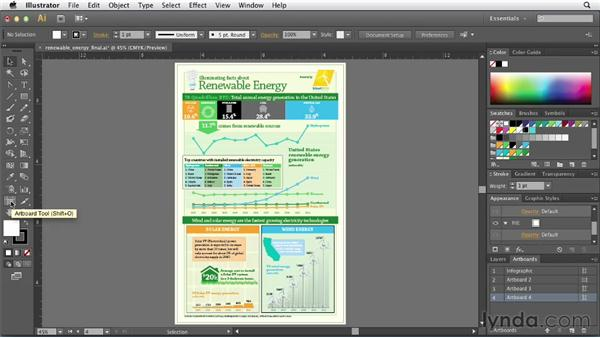 Using multiple artboards for flexible export options: Creating Infographics with Illustrator
