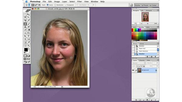 patch tool: Photoshop CS Essential Training