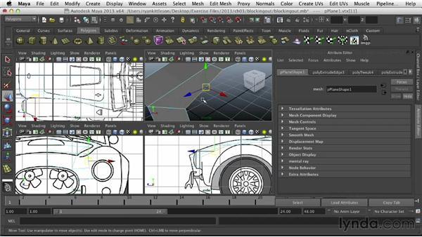 Blocking out the basic shape: Modeling Vehicles in Maya