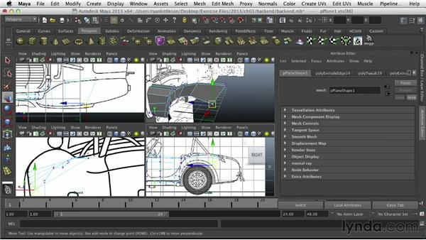 Blocking out the back end: Modeling Vehicles in Maya