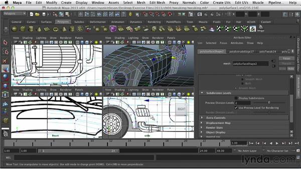 Tweaking the model: Modeling Vehicles in Maya