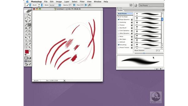 brushes: Photoshop CS Essential Training