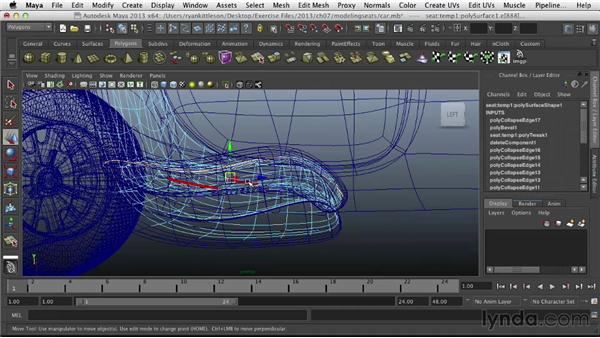 Modeling the seats: Modeling Vehicles in Maya