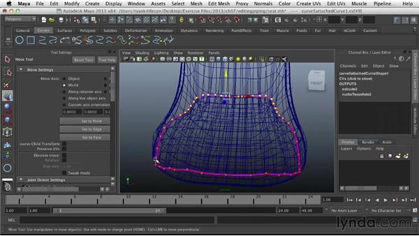 Editing the NURBS curves: Modeling Vehicles in Maya