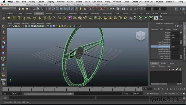Finishing the steering wheel: Modeling Vehicles in Maya