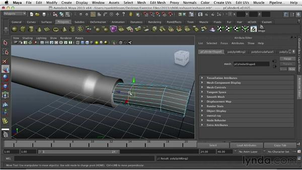 Starting the exhaust pipes: Modeling Vehicles in Maya