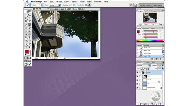 create and delete layers: Photoshop CS Essential Training