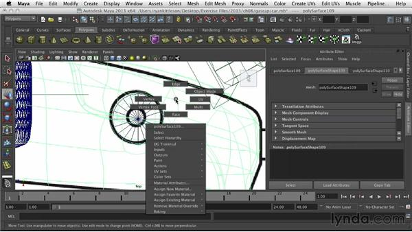 Cutting out the gas cap indentation: Modeling Vehicles in Maya