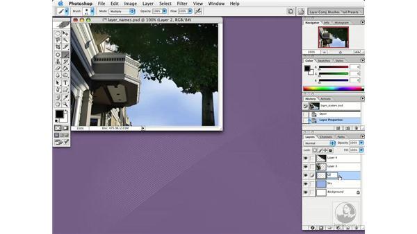 naming layers: Photoshop CS Essential Training