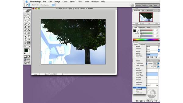 blending modes: Photoshop CS Essential Training