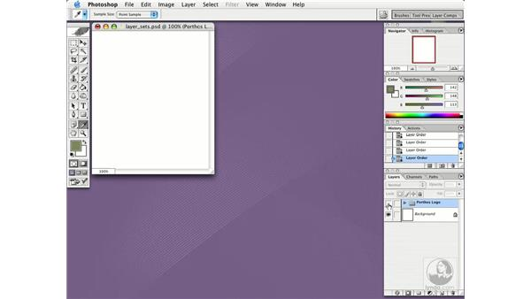 layer sets: Photoshop CS Essential Training