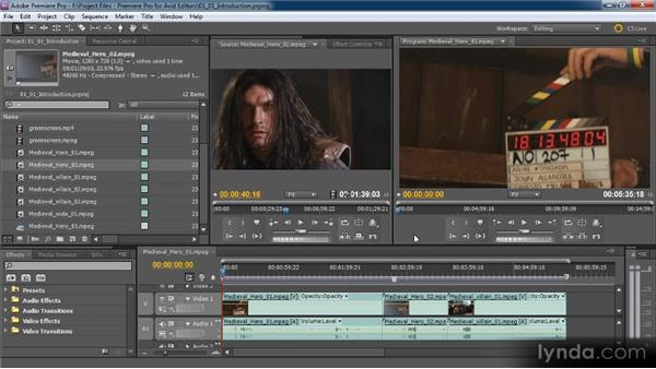 Getting to know Premiere Pro CS5: Premiere Pro CS5 for Avid Editors