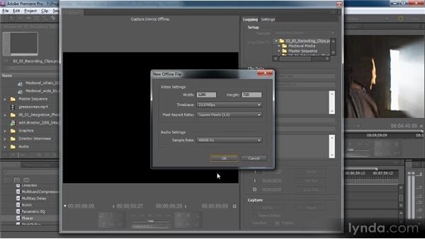 Capturing video and audio from tapes: Premiere Pro CS5 for Avid Editors