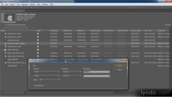 The power of the Project panel: Premiere Pro CS5 for Avid Editors