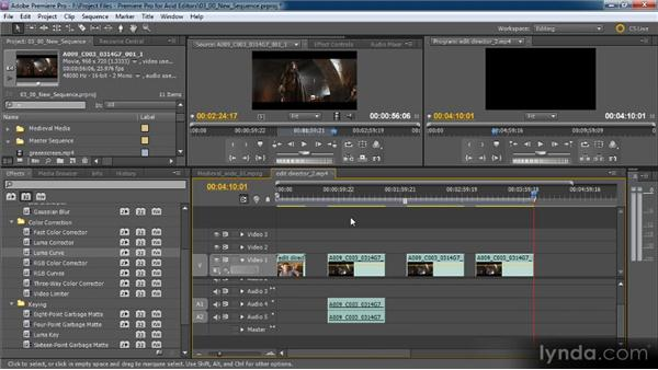 Making cuts: Premiere Pro CS5 for Avid Editors