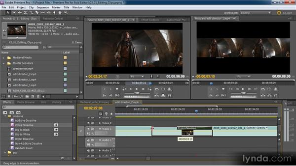 Working with transitions: Premiere Pro CS5 for Avid Editors