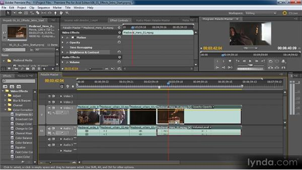 Introduction to special effects: Premiere Pro CS5 for Avid Editors
