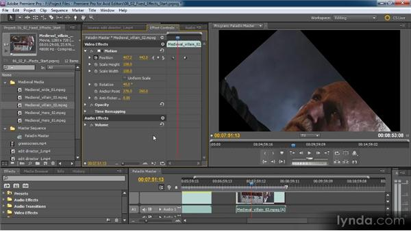 Overview of fixed effects: Premiere Pro CS5 for Avid Editors