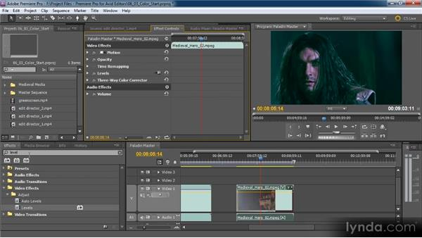 Introduction to color correction: Premiere Pro CS5 for Avid Editors