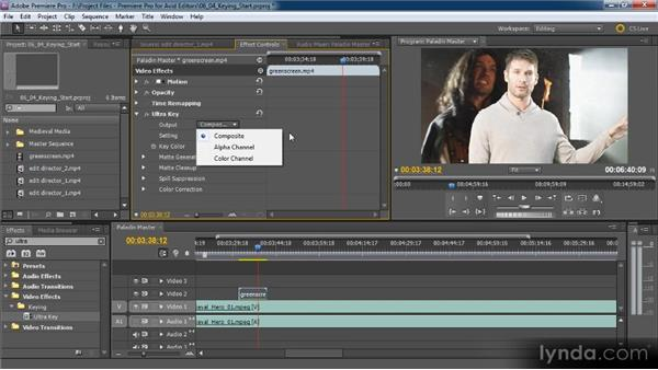 Keying and keyframing opacity: Premiere Pro CS5 for Avid Editors