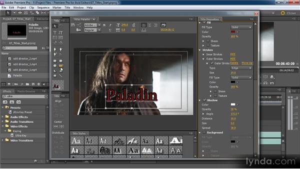 Title designer overview: Premiere Pro CS5 for Avid Editors