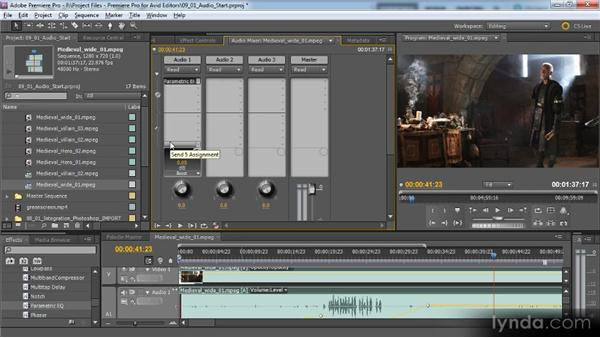 Working with audio: Premiere Pro CS5 for Avid Editors