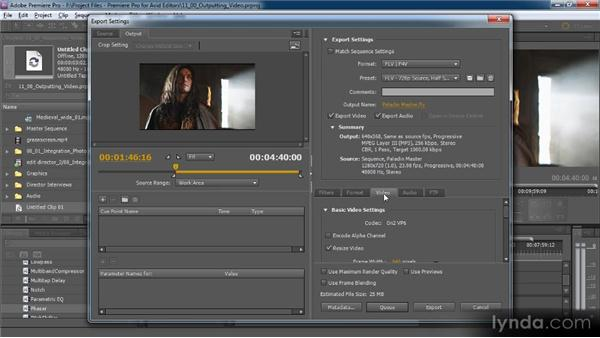 Overview of the Premiere Pro output options: Premiere Pro CS5 for Avid Editors