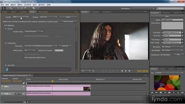 Outputting videos via Encore: Premiere Pro CS5 for Avid Editors