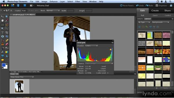 Understanding the Editor workspace: Up and Running with Photoshop Elements 9