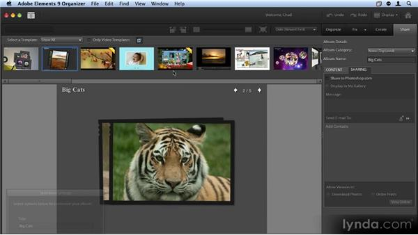 Sharing your images via photoshop.com: Up and Running with Photoshop Elements 9