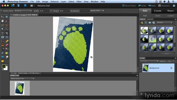 Cropping and straightening an image: Up and Running with Photoshop Elements 9