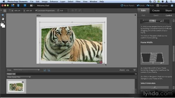 The out-of-bounds effect: Up and Running with Photoshop Elements 9