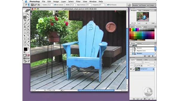 magnetic lasso: Photoshop CS Essential Training