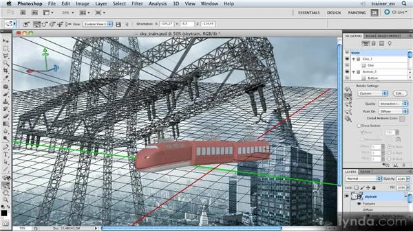 Roughly positioning the skytrain: Photoshop Artist in Action: Uli Staiger's Skytrain