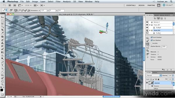 Fine-tuning the train: Photoshop Artist in Action: Uli Staiger's Skytrain